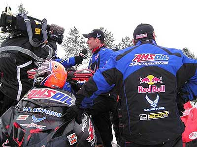 Amsoil snowcross team competes near Toledo.