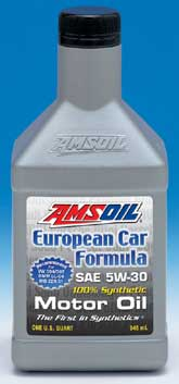 Amsoil's new 5W30 for European applications. Requirements require specific testing - Warranty Product
