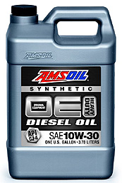 Priced for winter performance - Amsoil diesel 10W30.