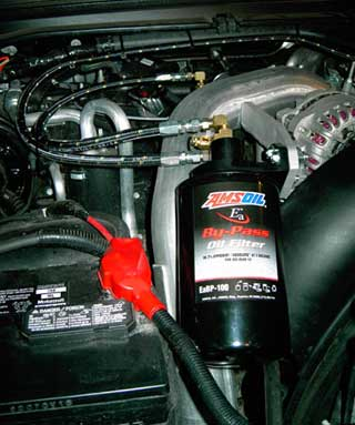 Ford Powerstroke owners can now reduce foreign oil dependence by abother 200 quarts minimum and reduce engine temperatures with AMSOIL Bypass kits amd AMSOIL diesel oil.