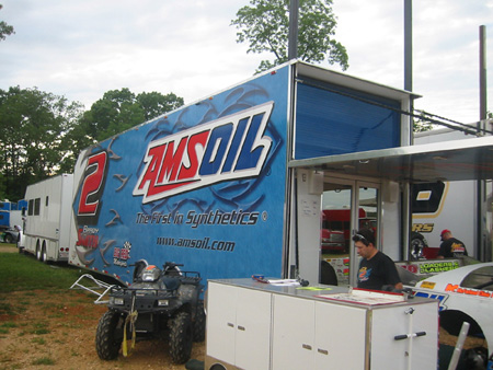 Amsoil's racing teams stop at Long Island Tracks.