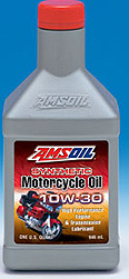 The latest to AMSOIL's Motorcycle Line! 10W30 fo rmore fuel economy