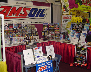 An effective display by one of our dealers at the Nebraska State Fair.