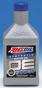 AMSOIL's new OE - for Original Equipment Factory Requirements. 10W30 for most vehicles.