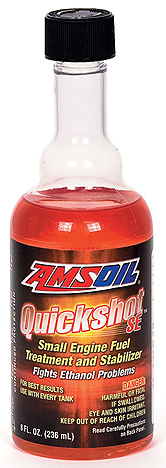 AMSOIL's Small Engine Fuel Maintenance - Quickshot - Stop Ethanol problems. Get throttle response back!