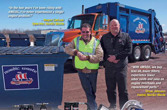 Download this informative garbage truck study. You can easily reduce costs by using Amsoil 15W40 diesel oil.