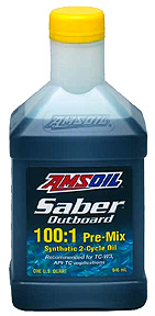 Best 2-cycle for pre mix outboard applications. Amsoil Saber Outboard will impress especiall in older units