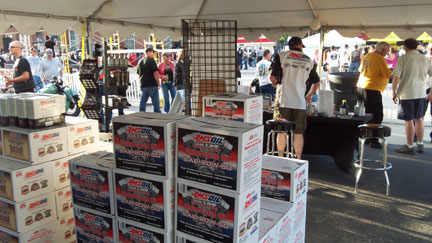 amsoil's corporate booth at Sturgis, SD 2013