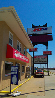 Ideal Amsoil Showroom dominates oil sales in any town.