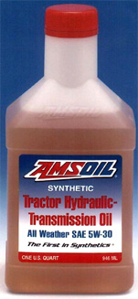 Synthetic Tractor Hydraulic Transmission Oil - Puts power to the work in all temperatures. Saves fuel, hoses and stops rust.