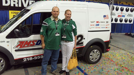Derek and Erin won the big giveaway! Ford Connect Van!