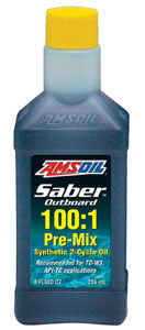 AMSOIL Saber Outboard synthetic 2-Cycle pre-mix Oil
